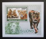 Poštovní známky Togo 2010 Lvi DELUXE Mi# 3471 Block