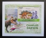 Poštovní známka Togo 2010 Dinosauři, Darwin DELUXE neperf. Mi# 3504 B Block
