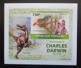 Poštovní známka Togo 2010 Dinosauři, Darwin DELUXE neperf. Mi# 3505 B Block