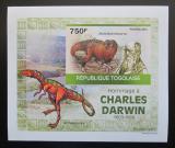 Poštovní známka Togo 2010 Dinosauři, Darwin DELUXE neperf. Mi# 3506 B Block