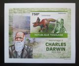 Poštovní známka Togo 2010 Dinosauři, Darwin DELUXE neperf. Mi# 3507 B Block
