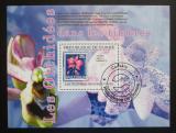 Poštovní známka Guinea 2009 Orchideje Mi# Block 1766 Kat 10€