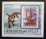 Poštovní známka Svatý Tomáš 2010 Dinosauři DELUXE neperf. Mi# 4548 Block