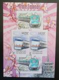 Poštovní známky Burundi 2012 Japonské lokomotivy neperf. Mi# 2453-54 Block