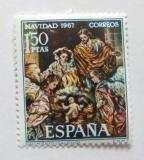 Poštovní známka Španělsko 1967 Vánoce, umění Mi# 1732