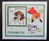 Poštovní známka Guinea-Bissau 2001 Houby DELUXE Mi# 1583 Block