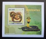 Poštovní známka Svatý Tomáš 2008 Hadi DELUXE Mi# 3360 Block