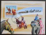 Poštovní známka Mosambik 2009 Přeprava zvířaty Mi# Block 240 Kat 10€