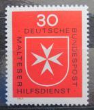 Poštovní známka Německo 1969 Maltézský kříž Mi# 600