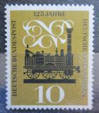 Poštovní známka Německo 1960 Parní lokomotiva Adler Mi# 345