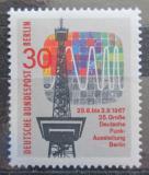 Poštovní známka Západní Berlín 1967 Televizní věž Mi# 309