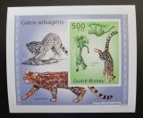Poštovní známka Guinea-Bissau 2010 Kočkovité šelmy DELUXE neperf Mi# 5044 B Block