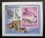 Poštovní známka Guinea-Bissau 2010 Kočkovité šelmy DELUXE neperf Mi# 5045 B Block