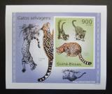 Poštovní známka Guinea-Bissau 2010 Kočkovité šelmy DELUXE neperf Mi# 5046 B Block