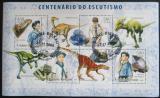 Poštovní známky Guinea-Bissau 2006 Skauti a dinosauři Mi# 3391-94 Kat 8€