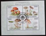 Poštovní známky Komory 2009 Houby Mi# 2652-55 Kat 9€