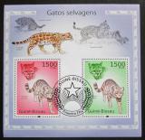Poštovní známky Guinea-Bissau 2010 Kočkovité šelmy Mi# Block 869 Kat 12€