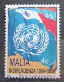 Poštovní známka Malta 1989 Vlajka OSN Mi# 811