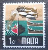 Poštovní známka Malta 1973 Rybolov Mi# 461
