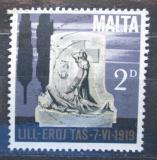 Poštovní známka Malta 1969 Památník k roku 1919 Mi# 393