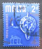 Poštovní známka Malta 1965 Olejová lampa Mi# 304