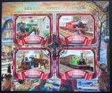 Poštovní známky Burundi 2017 Parní lokomotivy Mi# N/N