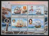 Poštovní známky Gabon 2017 Staré plachetnice Mi# N/N
