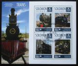 Poštovní známky Šalamounovy ostrovy 2014 Parní lokomotivy Mi# 2962-65