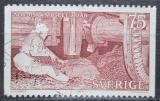 Poštovní známka Švédsko 1973 Zpracování lnu Mi# 816
