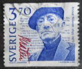 Poštovní známka Švédsko 1995 Fritiof Nilsson Piraten, spisovatel Mi# 1912