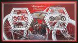 Poštovní známky Čad 2014 Klasické motocykly Mi# N/N