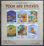 Poštovní známky Antigua 1998 Disney, Medvídek Pú Mi# 2697-2702