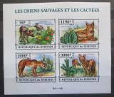 Poštovní známky Burundi 2013 Kaktusy a divocí psi neperf. Mi# 3228-31 B