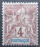 Poštovní známka Martinik 1892 Koloniální alegorie Mi# 28