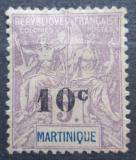 Poštovní známka Martinik 1904 Koloniální alegorie přetisk Mi# 49 Kat 17€