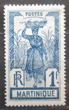 Poštovní známka Martinik 1908 Žena s ananasem Mi# 70