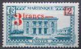 Poštovní známka Martinik 1945 Palác guvernéra přetisk Mi# 228
