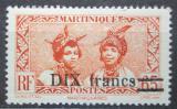 Poštovní známka Martinik 1945 Domorodkyně přetisk Mi# 230