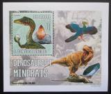 Poštovní známka Svatý Tomáš 2006 Dinosauři a minerály DELUXE Mi# 2771 Block