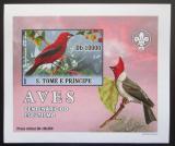 Poštovní známka Svatý Tomáš 2007 Ptáci DELUXE neperf. Mi# 3034 B Block