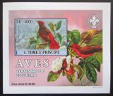 Poštovní známka Svatý Tomáš 2007 Ptáci DELUXE neperf. Mi# 3035 B Block