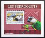 Poštovní známka Guinea 2009 Papoušci DELUXE neperf. Mi# 6432 B Block