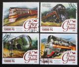 Poštovní známky Guinea 2016 Parní lokomotivy Mi# 11686-89 Kat 16€