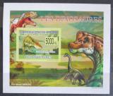Poštovní známka Guinea 2009 Dinosauři DELUXE neperf. Mi# 6391 B Block