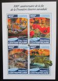 Poštovní známky SAR 2018 První světová válka Mi# 7787-90 Kat 16€