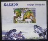 Poštovní známka Svatý Tomáš 2009 Kakapo soví DELUXE neperf. Mi# 3886 B Block
