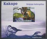 Poštovní známka Svatý Tomáš 2009 Kakapo soví DELUXE neperf. Mi# 3887 B Block