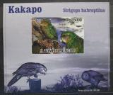 Poštovní známka Svatý Tomáš 2009 Kakapo soví DELUXE neperf. Mi# 3888 B Block