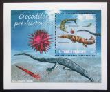Poštovní známka Svatý Tomáš 2010 Prehistoričtí krokodýli Mi# 4302 Block