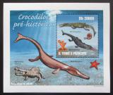 Poštovní známka Svatý Tomáš 2010 Prehistoričtí krokodýli Mi# 4304 Block